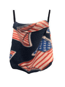Hanging view of sleeping pouch