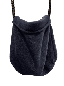navy sleeping pouch hanging