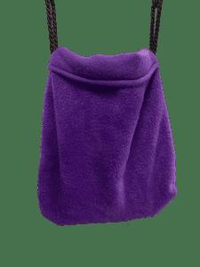 purple sleeping pouch hanging