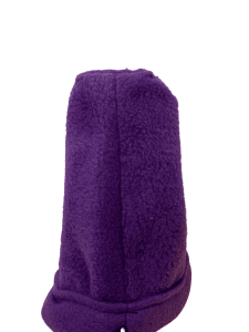side view of purple sleeping pouch